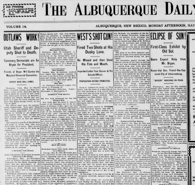 42b6ea3eba Utah - It was Monday Afternoon edition of The Albuquerque Daily Citizen