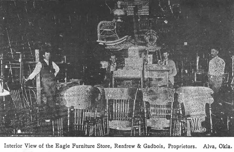 Interior View Of Eagle Furniture Store   Alva, Okla.