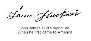 John James Hurt's first signature