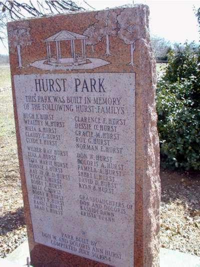 Hurst Park, Warwick, Oklahoma